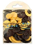Buttons Galore Hand Dyed Buttons, Black/...