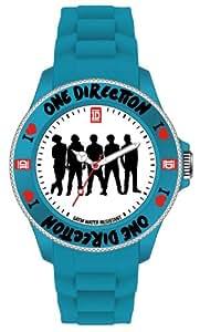 One Direction - ONED03S - Montre Mixte - Quartz Analogique - Cadran Blanc - Bracelet Silicone Turquoise - Small