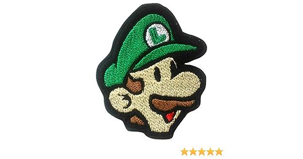 super Mario Brothers distintivo ferro o cucire su ricamato applique souvenir retro DIY costume World kart all Stars SNES 9/cm Luigi patch