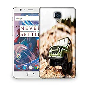 Snoogg 4x4 offroad car Designer Protective Back Case Cover For OnePlus Three