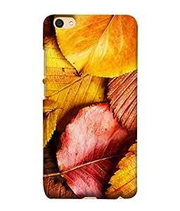 FUSON Designer Back Case Cover for Vivo Y55L :: Vivo Y55 (Multicolour Dry Leaves Painting Bright Sunny Day )