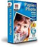 MICRO APPLICATION Eco Pack Lot de 80 Papiers photo brillant 10 x 15 cm Blanc