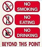Schwimmbad No Smoking No Eating No Drinking Schild POOL Arena Warnung Aufkleber
