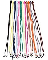12pcs Nylon Eyeglass/Spectacle/Sunglass/Eyewear Cord Holder Neck String---Assorted Color