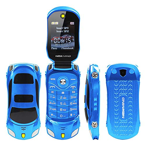 F15 Mini-Klapphandy im Sportwagendesign, ohne SIM-Lock, Dual-SIM, MP3 / MP4, in 6 Farben - Sim-handy-mp3