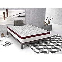 Imperial Confort Helsinki New 25 Colchón viscoelástico, Espuma HR, Blanco/Rojo, 160x200