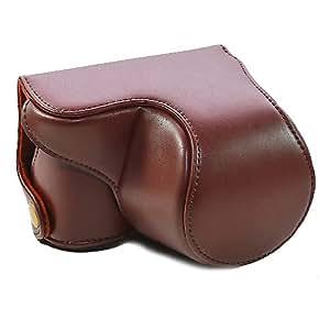 CamRepublic® -- New Brown Leather Case Bag Cover Pouch for Sony NEX3N, NEX 3N, NEX-3N