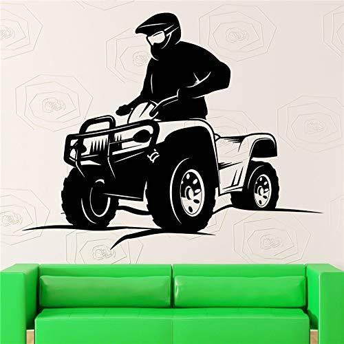 jiushizq Sports Accueil Sticker Quad Bike Extreme Sport Autocollants en Vinyle Art Mural Chambre Autocollant Vivre Home Decor Sticker Mural Roses 58 x 46 cm