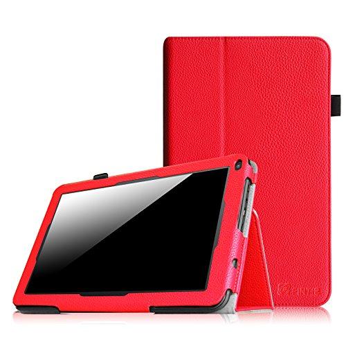 Fintie Premium Kunstleder Folio Hülle Case Schutzhülle Tasche Etui für Dragon Touch A93 9'' Quad Core Tablet PC Google Android 4.4 KitKat, Time2 Tablet-PC 9 Zoll - Rot