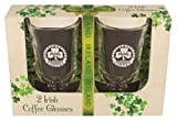 Two Pack of Irish Coffee Glasses with Shamrock and Irish