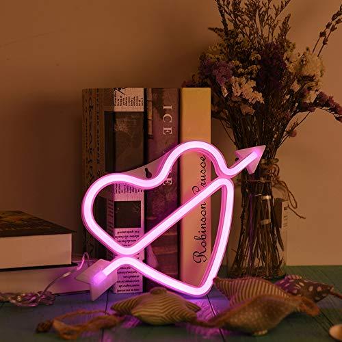 Letrero De Neón LED 26 Letras Luz De La Pared Palabra Cartel De Fondo Boda Decoración De Navidad Luz De La Noche,PinkHeart