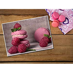 Postkarte Macaron - Grußkarte Einladung