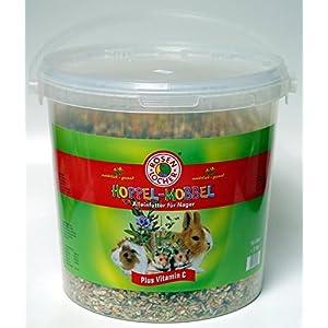 3x Hoppel Mobbel Futter für alle Nager 5 kg Tragetasche, mit Vitamin C, Nagerfutter