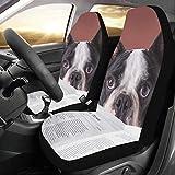 Dos fundas de asiento para perros Periódico o revista de lectura Universal Fit Auto Fundas para asientos de automóviles Protector para auto camión Suv Vehículo Mujeres Señora (2 delanteras) Xl Funda