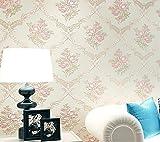Yosot Damaskus Vliesstoff 3D Stereo Relief Wohnzimmer Schlafzimmer Restaurant Hintergrund Wand Tapeten Weiß