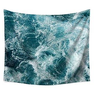Yamer Ocean Sea Tapestry Blue Bohemian serviette de plage plafond suspendu décorations pour salon chambre dortoir 150 x 130 cm