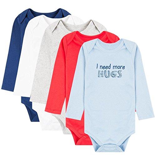 COOL CLUB Baby Langarmbody 5er Pack für Jungen