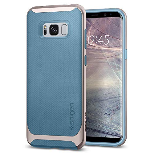 Spigen Neo Hybrid Samsung Galaxy S8 Hülle (565CS21595) Zweiteilige Handyhülle Silikon TPU Schale mit PC Bumper Schutzhülle Case (Niagara Blue)