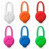 Hunde Leuchtanhänger Leuchthalsband Led Hundehalsband LH10 Blinkie von Leuchthund® Led Anhänger Silikon (rot) - 4