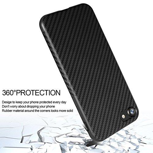 """Luxus-Carbon-Faser-Faser TPU Silikon-dünne Linie zurück Fall-Schlag-absorbierende Stoß-schützende Fall-Abdeckung für Apple iPhone 5 / 5s / Se, 6 / 6s 4.7 """", 6 Plus / 6s plus 5.5"""", iPhone 7 und iPhone  White"""
