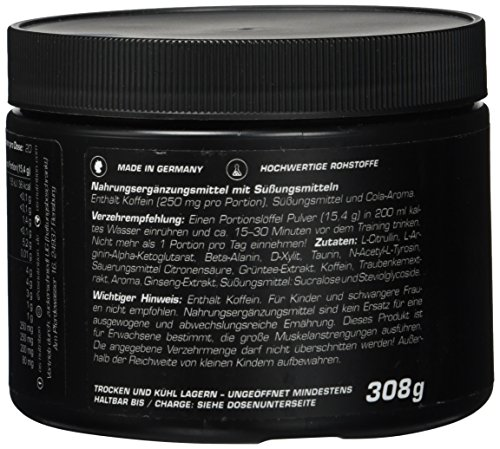 Pre Workout Booster Götterpuls – OS NUTRITION Cola 308g – made in Germany - 4