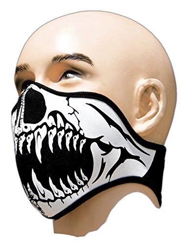 Biker Tattoo Motorrad Mundschutz Maske Neopren Feinstaubfilter Snowboard Ski Extrem Sport Paintball Totenkopf -