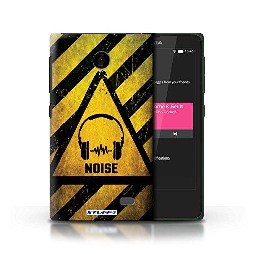 Kobalt® Imprimé Etui / Coque pour Nokia X / Toxique/Crâne conception / Série Signes de Danger Bruit/Musique