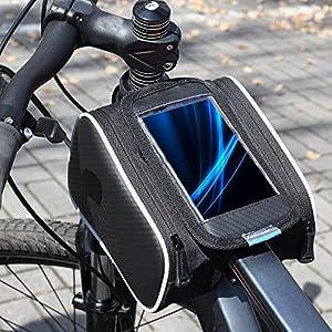 51KBGFBVakL. SS300 Lixada Bicicletta Borsa Manubrio Bicicletta Tubo Superiore Anteriore Pannier della Struttura Borsa a Doppia Borsa per…