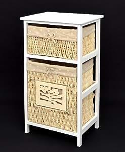 landhaus kommode mit w schekorb schrank wei. Black Bedroom Furniture Sets. Home Design Ideas
