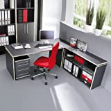 Schreibtisch Set Eckschreibtisch »DUKE« anthrazit - Rosales