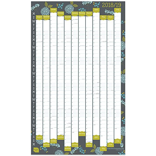 Boxclever Press 2018/2019 Academic Wall Planner. Home or Office Wall Chart. Portrait format. Starts August 2018 to July 2019. Available laminated or unlaminated. Includes all main UK dates and holidays. (Non-laminate)