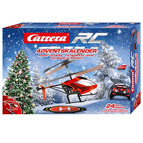 Carrera RC 370501042 Advent Calendar-2,4 GHz Helicopter, Rot