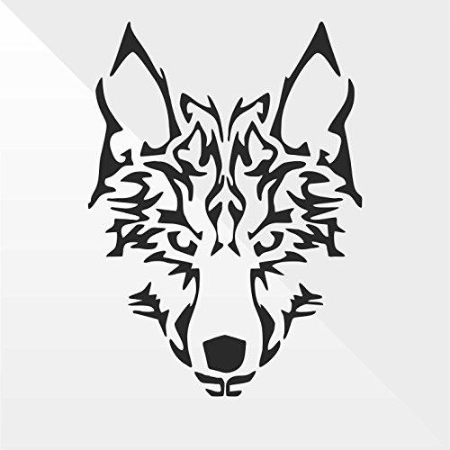 Sticker Lupo Wolf Loup Lobo - Decal Auto Moto Casco Wall Camper Bike Adesivo Adhesive Autocollant Pegatina Aufkleber - cm 20