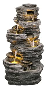 Fontaine d'Extérieur 5 Cascades Rochers – Lumières