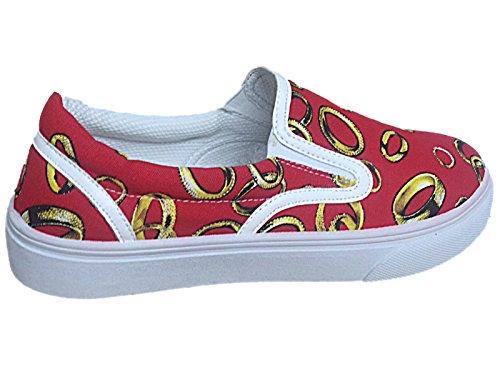 Foster Footwear , Damen Sneaker SO Red (Rings)