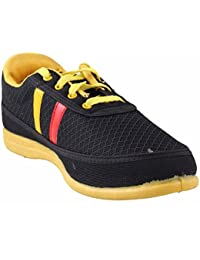 Dynamic Mens Sports Shoes Size 7 (Yellow And Black )