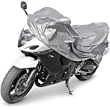 Relaxdays 10015741 Bâche Housse de Protection Couvre Moto, Gris, 230x130 cm