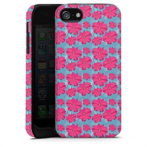 Apple iPhone 6 Housse Étui Silicone Coque Protection Fleurs Fleurs Rose vif Cas Tough terne