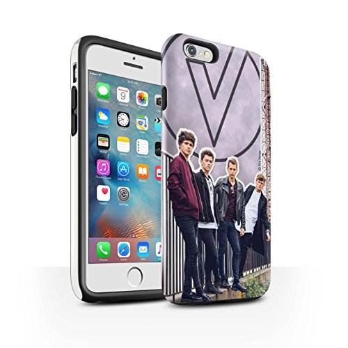 Offiziell The Vamps Hülle / Glanz Harten Stoßfest Case für Apple iPhone 6+/Plus 5.5 / Pack 5Pcs Muster / The Vamps Doodle Buch Kollektion Ausgeschnitten