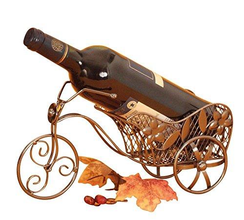 Moderner Wein Flaschenhalter Fahrrad aus Metall Höhe 16 cm Breite 31 cm