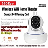 Weiß 720P HD 1 Millone Di Capelli Drahtlose Internet-Sicherheitskamera, Infrarot-Nachtsicht Unterstützung Für Apple Und Android-Handys Dome Überwachungskamera Überwachungskamera