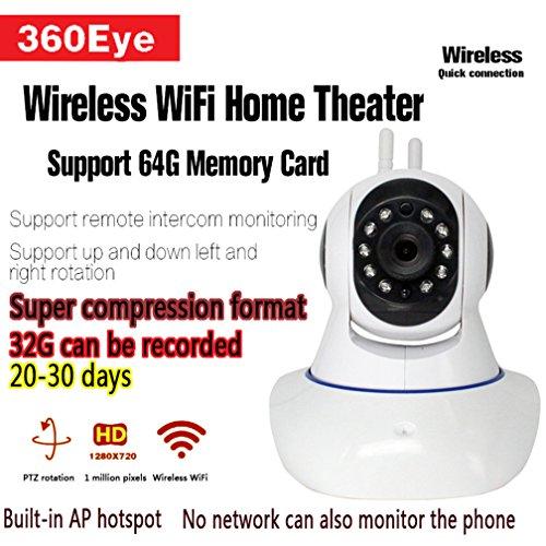 Weiß 720P HD 1 Millone Di Capelli Überwachungskamera Ohne Internet, Remote Viewing Unterstützung Für Apple Und Android-Handys Dome-Überwachungskameras Überwachungskamera (Remote-dome-kamera)