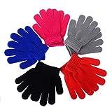 Yantu Mädchen Handschuhe Fingerhandschuh Warme Gestrickte Winter Handschuhe für Kinder Jungen Mädchen (5 Paare)