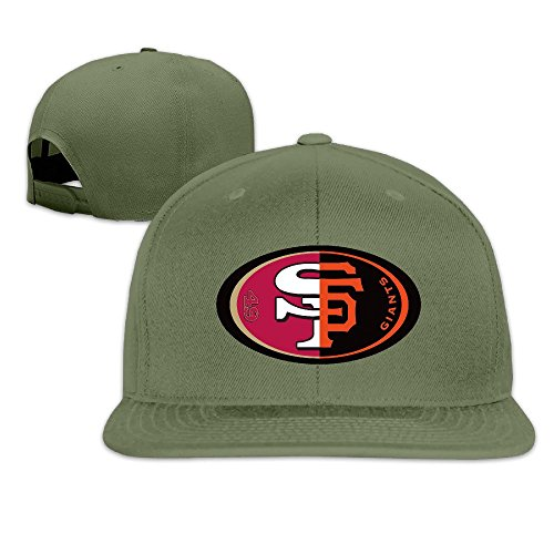 hittings-san-francisco-giants-49ers-fan-design-logo-design-snapbacks-cool-hat-forest-green