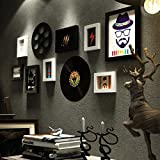 HhGold Bilderrahmen Wohnaccessoires Fotowand Moderne einfache dekorative Wand Sofa Hintergrund Foto Wand Album Wand kreative Portfolio Wohnzimmer Restaurant Home Foto Wand
