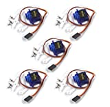 #8: Electrobot 5 Pcs SG90 Servo 9g Motor Tower Pro RC Robot Helicopter Airplane Boat Controls