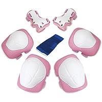 Set di Protezione per Bambini, Bambini Kit Protezione, protezioni skateboard bambini, protezioni pattini a rotelle, Bambini Gear Pad di Protezione, bicicletta, BMX, Roller Skate Bici Skateboard Sport Estremi (Rosa)