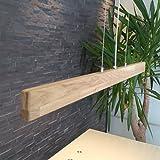 XXL LED Holzleuchte Hängelampe aus Holz Eiche geölt Hängeleuchte 120 cm Pendelleuchte Dimmbar per Fernbedienung Massiv