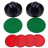 SolUptanisu Set di Dischi PUSHH Hockey su Ghiaccio, Pesi Leggeri in plastica Pali per Hockey su Ghiaccio Set di Ricambio per Tavolo da Gioco