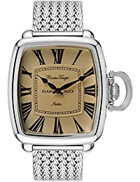 Glam Rock Men's Vintage Steel Bracelet & Case Quartz Analog Watch GR28081F